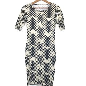 Lularoe Multi Polka Dot Julia Bodycon Dress XXS